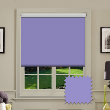 Lilac Plain Roller Blind in Carnival Chambary FR / Antibacterial fabric
